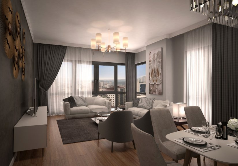 real estate for sale in Istanbul / Umraniye Apartment