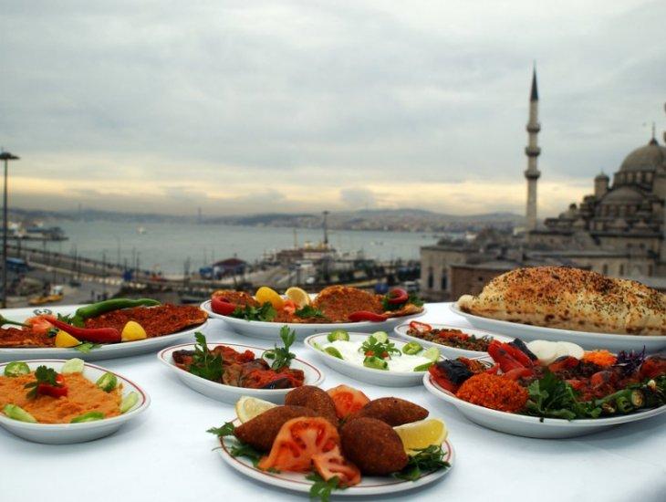 Straße Delikatessen von Istanbul